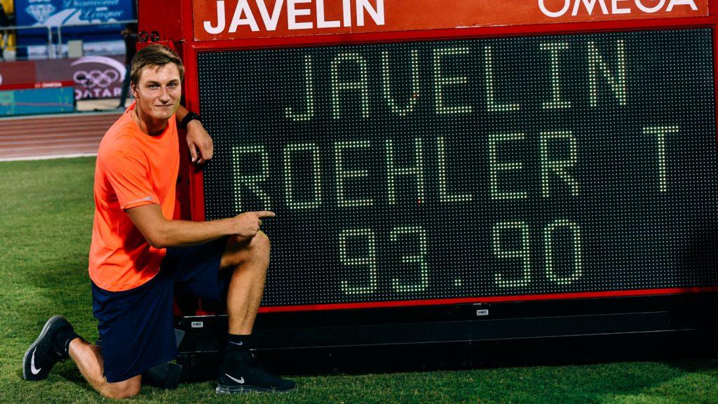 Thomas Roehler _ deutscher Rekord _neuer deutscher Speerwurf Rekord bei der IAAF Diamond League Doha