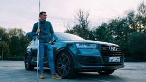 Thomas Röhler mit Audi Q 7 des Autohaus Fischer Jena