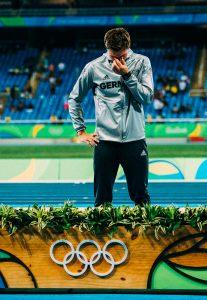 Thomas Röhler Rio 2016 Olympic Champion at medal ceremony