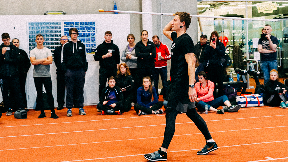 Speerwurf Coaching und Seminar durch Thomas Röhler Javelin presentation and javelin coaching