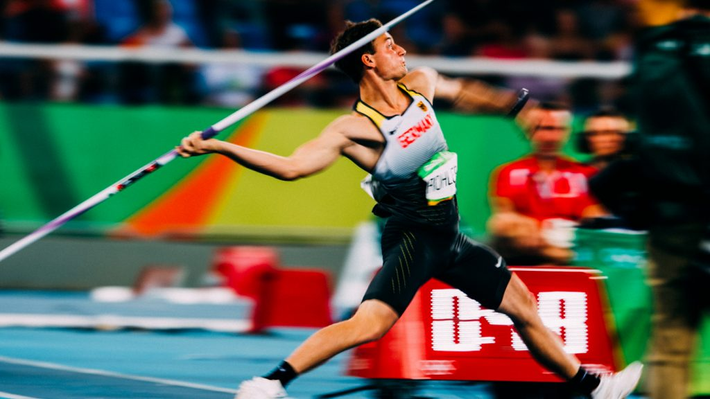 Thomas Röhler Speerwurf Olympiasieger 2016 Foto von Sacha Fromm Javelin olympic champion throwing the javelin in Olympic final