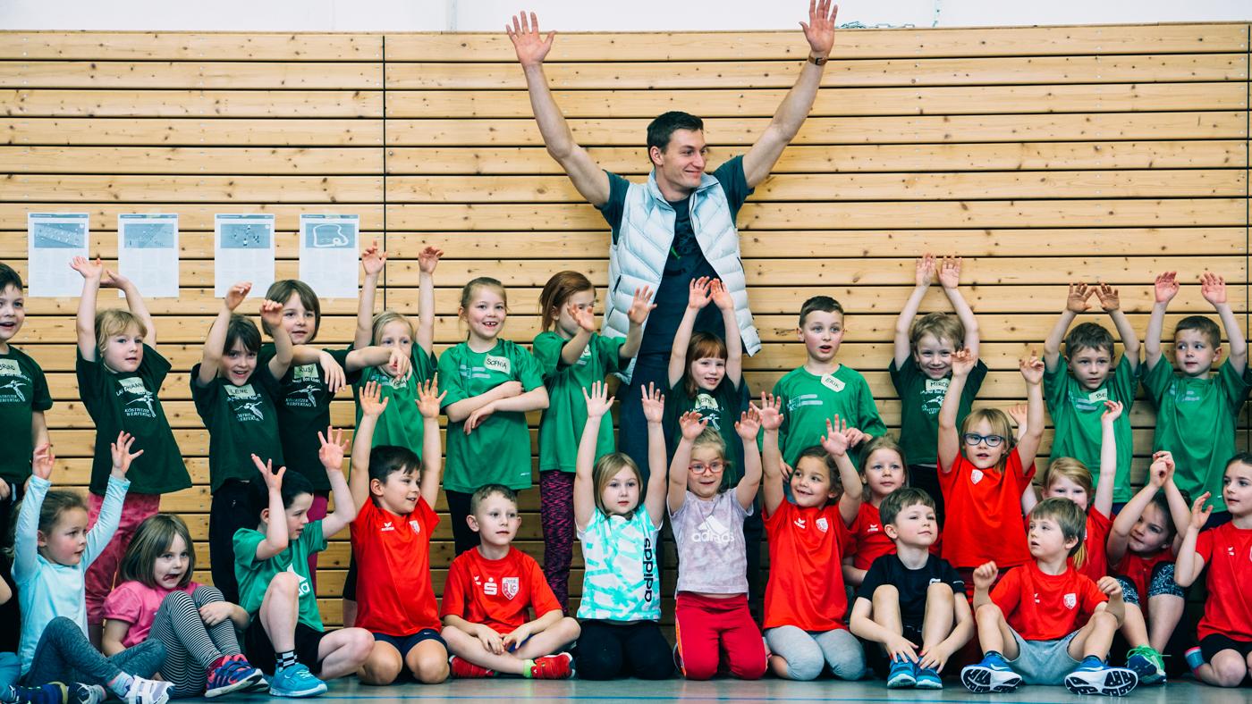 Thomas Röhler in der Kinderleichtathletik des LC Jena