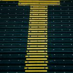 Stairs in the stadium