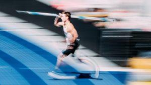 Speerwurf Technik Der Anlauf von Thomas Röhler läuft in Berlin 2018 zum Wurf an