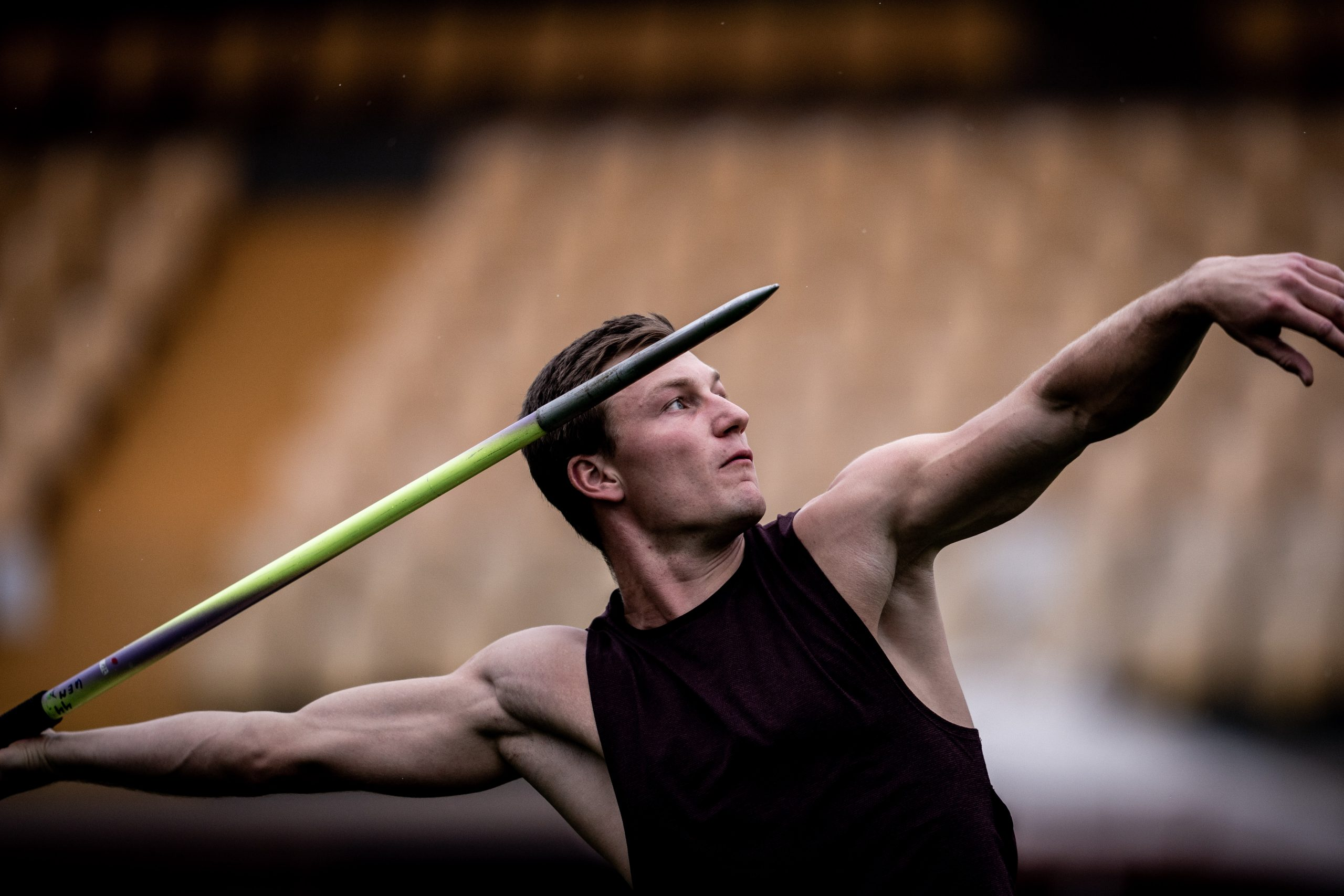 Thomas Röhler with javelin